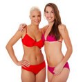 Two girls in bikini Royalty Free Stock Images