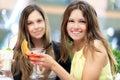 Two Girls Having An Aperitif O...
