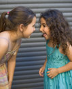 Two girls having fun Stock Photos