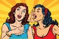 Dvě dívky umění křičet