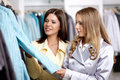 Two girls in shop Stock Image