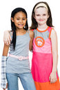 Two Girls Standing Together Stock Photography