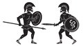 Two gladiators the figure shows a fight between Royalty Free Stock Photos
