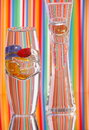 Two Glass Vases & Bright Color Stock Photography