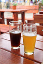 Two glasses of beer Royalty Free Stock Photo
