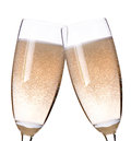 Two glasses of champagne flutes Royalty Free Stock Photo