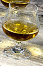 Two glasses of cognac Royalty Free Stock Photography