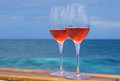 Two glasses of rose wine Royalty Free Stock Photo