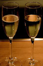 Two Glasses Of Sparkling Wine Stock Images