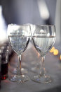 Two glasses with water Royalty Free Stock Photo