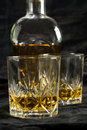 Two glasses of whisky Stock Photos