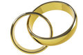 Two gold rings Royalty Free Stock Photography