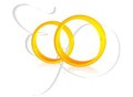 Two golden wedding rings Royalty Free Stock Photography