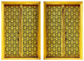 Two Golden Windows. Royalty Free Stock Image