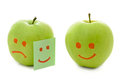 Two green apples Royalty Free Stock Photography