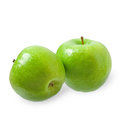 Two green apples isolated on white background Royalty Free Stock Photography