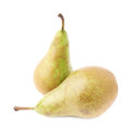 Two green pears composition isolated Royalty Free Stock Photo