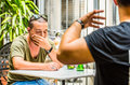 Two guys having an argument Royalty Free Stock Photo