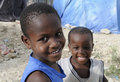 Two Haitian Kid. Royalty Free Stock Photo