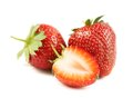 Two and half strawberries. Royalty Free Stock Photography