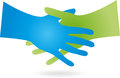 Two hands, handshake, business, partners, logo Royalty Free Stock Photo