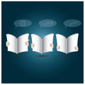 Two hands open the book to reading design template Stock Photography