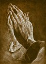 Two hands in pray pose. Royalty Free Stock Photo