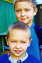 Two happy boys - brothers or friends Royalty Free Stock Photo