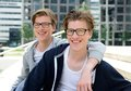 Two happy brothers smiling Royalty Free Stock Photo