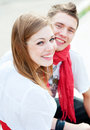 Two happy friends Royalty Free Stock Photo