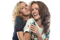 Two happy hugging sisters Royalty Free Stock Photo