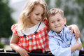 Two happy kids Royalty Free Stock Photo