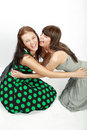 Two happy student girls Royalty Free Stock Photo