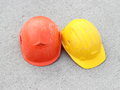 Two Hard hats Royalty Free Stock Image
