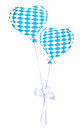Two heart balloons in bavarian colors Royalty Free Stock Photo