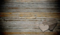Two heart on wood background Stock Photo