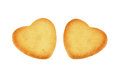 Two hearts cookie Royalty Free Stock Photography