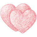 Two hearts illustration of the symbol of a heart Royalty Free Stock Image