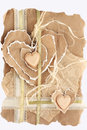 Two hearts paper greetings with Stock Photo