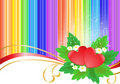 Two hearts on rainbow background Royalty Free Stock Photography
