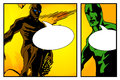 Two hero with speech bubbles blanked part of a comic book page Royalty Free Stock Photography