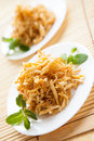 Two honey dessert plate - Tatar chak-chak Royalty Free Stock Images
