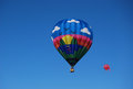 Two hot air balloons participating in the annual albuquerque balloon festival Stock Image