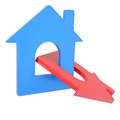 Two house icon isolated render on a white background Stock Images