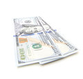 Two hundred dollar notes Royalty Free Stock Photo