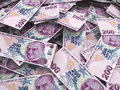 Two hundred turkish lira d render depth of field Royalty Free Stock Photos