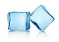 Two ice cubes Royalty Free Stock Images