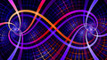 Two interlocking spirals creating an infinity symbol with decorative tiles all in vivid shining pink purple red yellow a beautiful Stock Photos