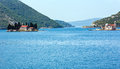 Two islets off the coast , Montenegro Royalty Free Stock Photos