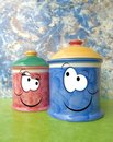 Two jars Royalty Free Stock Images